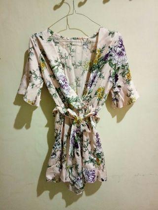 Kimono blouse flower