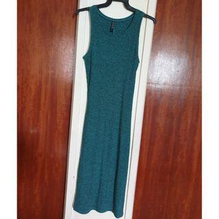 TEAL GREEN LONG STRETCH DRESS #EndgameYourExcess