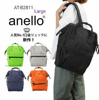 [AT-B2811 ]2019 New Arrival!Anello Large Pu Backpack