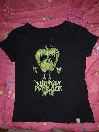 Black cute T-shirt