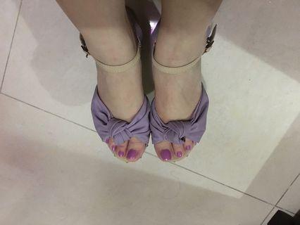 日本Wendine 紫色涼鞋(全新35號)