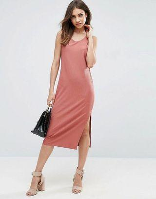 ASOS Midi Dress with Side Slit