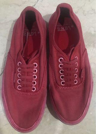 VANS AUTHENTIC CA (OVER WASHED) RED