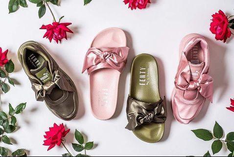 🚚 Fenty x puma 緞面蝴蝶結拖鞋