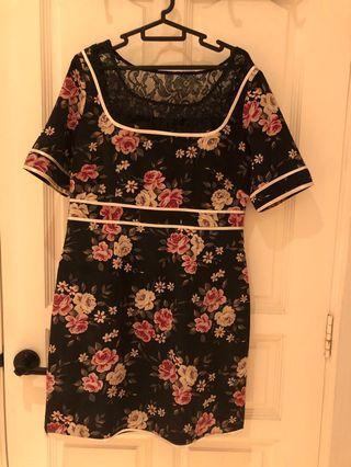 Floral /lace cocktail dress
