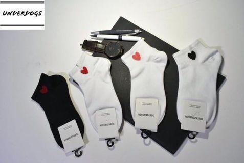 Cute heart socks: mid length: cute socks