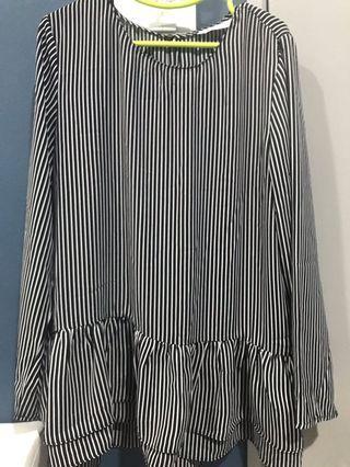 Pdini Striped Blouse