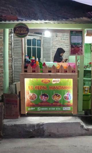 Gerobak Thai tea, kepal Milo, booth