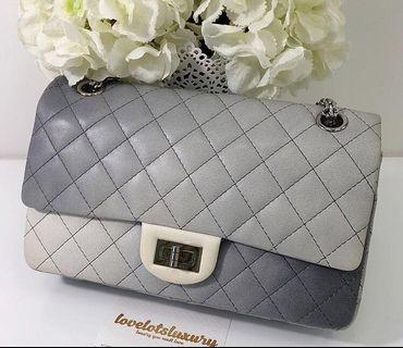 Like new Authentic Chanel 2.55 reissue flap bag 225 - grey ombré degrade