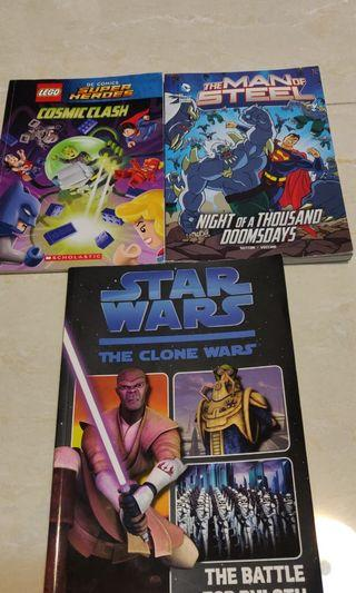 Superhero books with star wars, all 3 books, 英文圖書