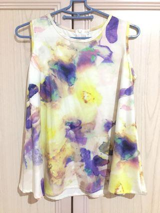 Tracyeinny TE watercolour paint abstract tank top