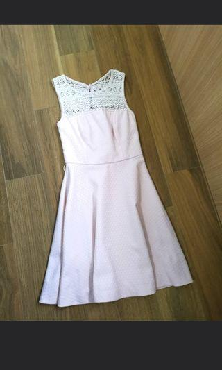 Au6 Forever new crochet lace Pink Dress
