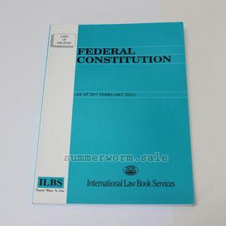 Federal Constitution book - Laws of Malaysia
