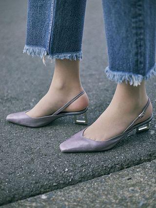(🇯🇵日本代購) 日幣¥20,952円【AMERI】代官山夢幻逸品真皮高跟仙女下凡紫色鞋 全新