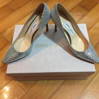 Jimmy Choo high heels 銀色高踭鞋 (100% Authentic)