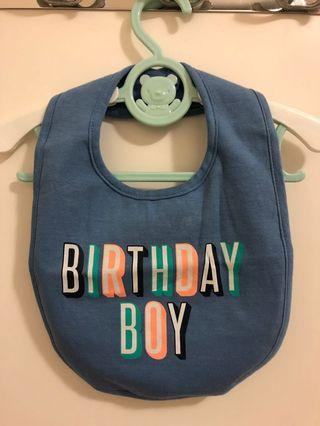 Carter's 生日口水肩 birthday boy cake smash baby bb bib