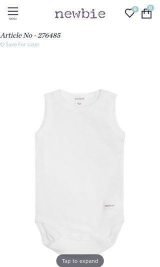 Newbie organic cotton onesie 有機棉質夾衣 夏天嬰兒底衫