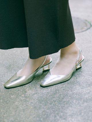 (🇯🇵日本代購) 日幣¥20,952円【AMERI】代官山夢幻逸品真皮高跟仙女下凡金色鞋 全新