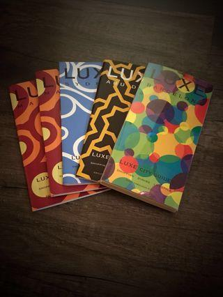 Set of Luxe Guide Madrid, Barcelona, Sydney, Abu Dhabi