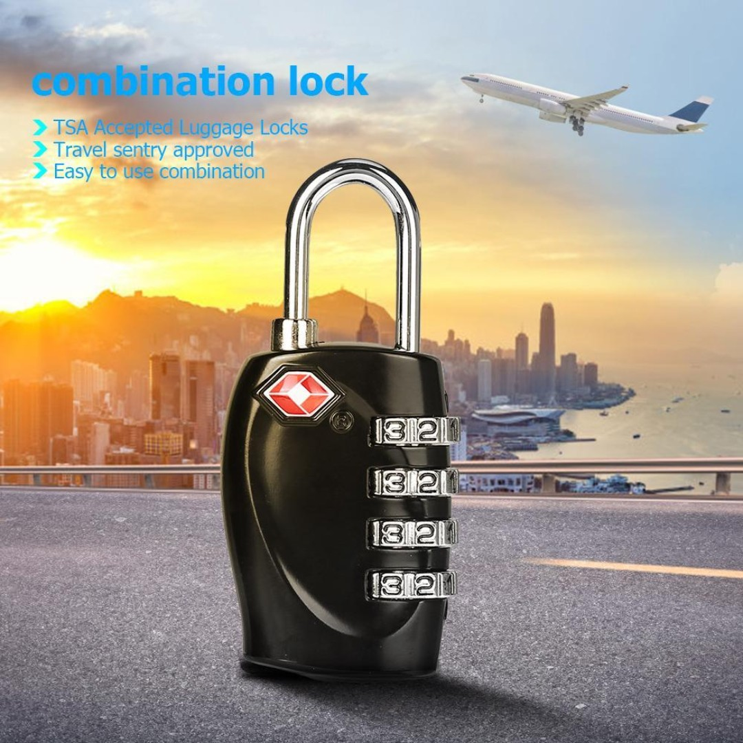 4-Digits TSA Customs Code Locks Luggage Suitcase Combination Padlocks