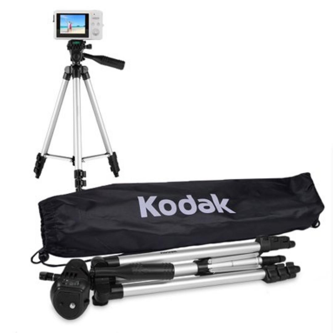 "50"" Kodak Superior Control 3 Way Pan Head DSLR/Camera Tripod"