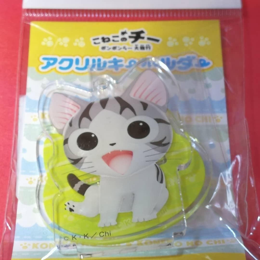 萌貓小店 日本直送-日本製日本甜甜私房貓吊飾連底座 こねこのチー アクリルキーホルダー アン