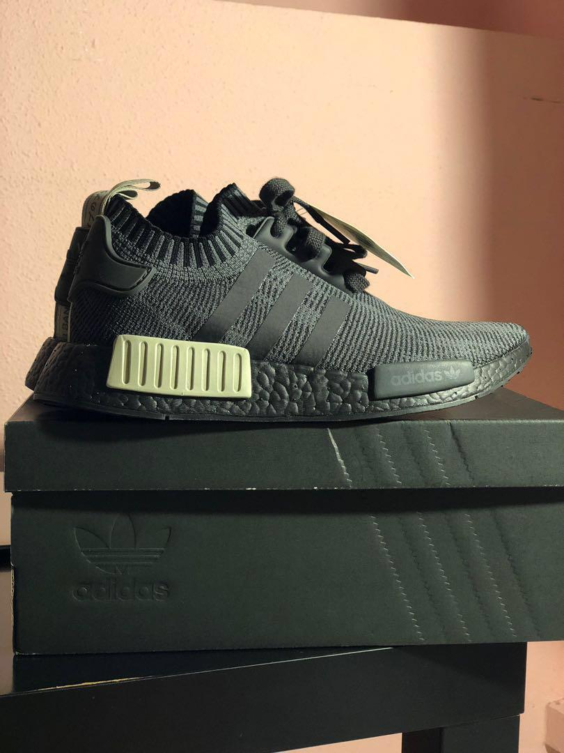 new product 4d842 29be1 Adidas Nmd R1 Pk Primeknit Runner Nomad Boost Black Olive ...
