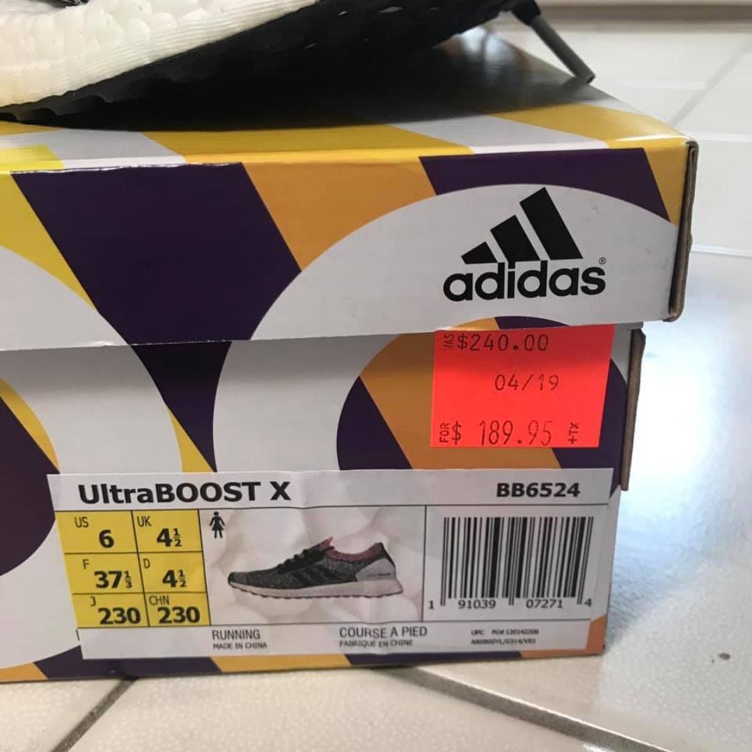 Adidas Ultraboost X Breast Cancer Edition Size 6 $170