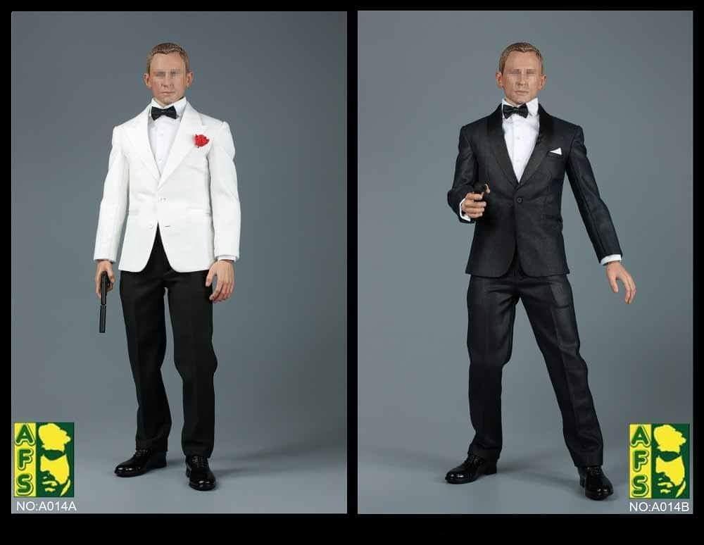 Afs A014a A014b 1 6 Scale 007 James Bond Blue White Suit