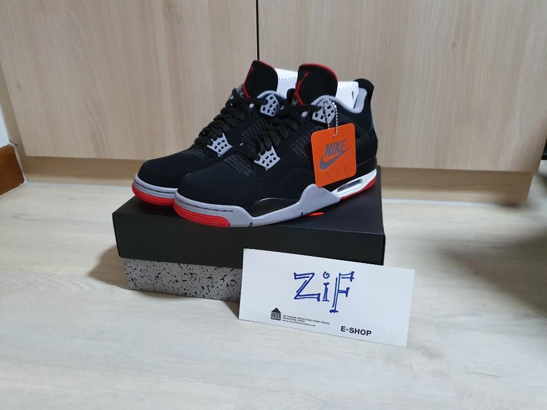 84d905cbb670e Air Jordan 4 Retro Men's Shoe Bred US 10.5, Men's Fashion, Footwear ...