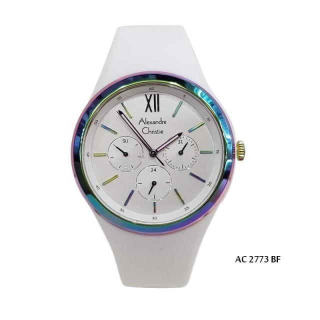 ALEXANDRE CRISTIE TYPE            : JC JTC-545/AC2773BF  DIAMETER   :3.8 CM THICKNESS :9 MM KATAGORI   : ARLOJI WANITA WEIGHT        :500 GR  MATERIAL   :RUBBER STRAP BODY           :STANLESS STEEL CASE QUALITY    : ORIGINAL  COLLOR     :