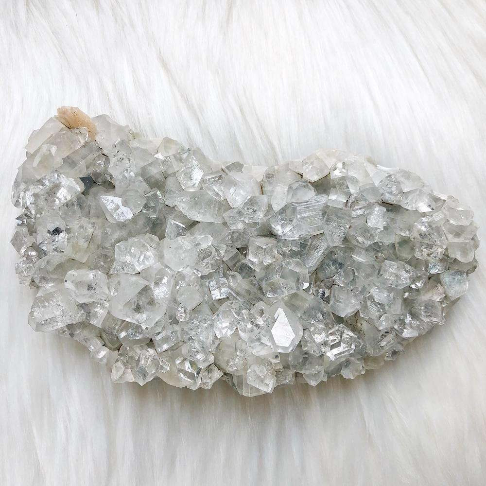 Apophyllite w/ Stilbite Large Cluster