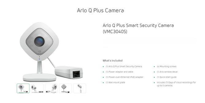 arlo Q Plus Security Camera