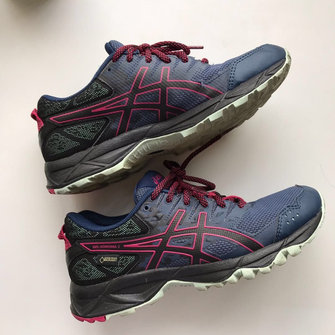 14fd7795 Asics Gel-Sonoma 3 G-TX trail running shoes, Sports, Sports Apparel on  Carousell
