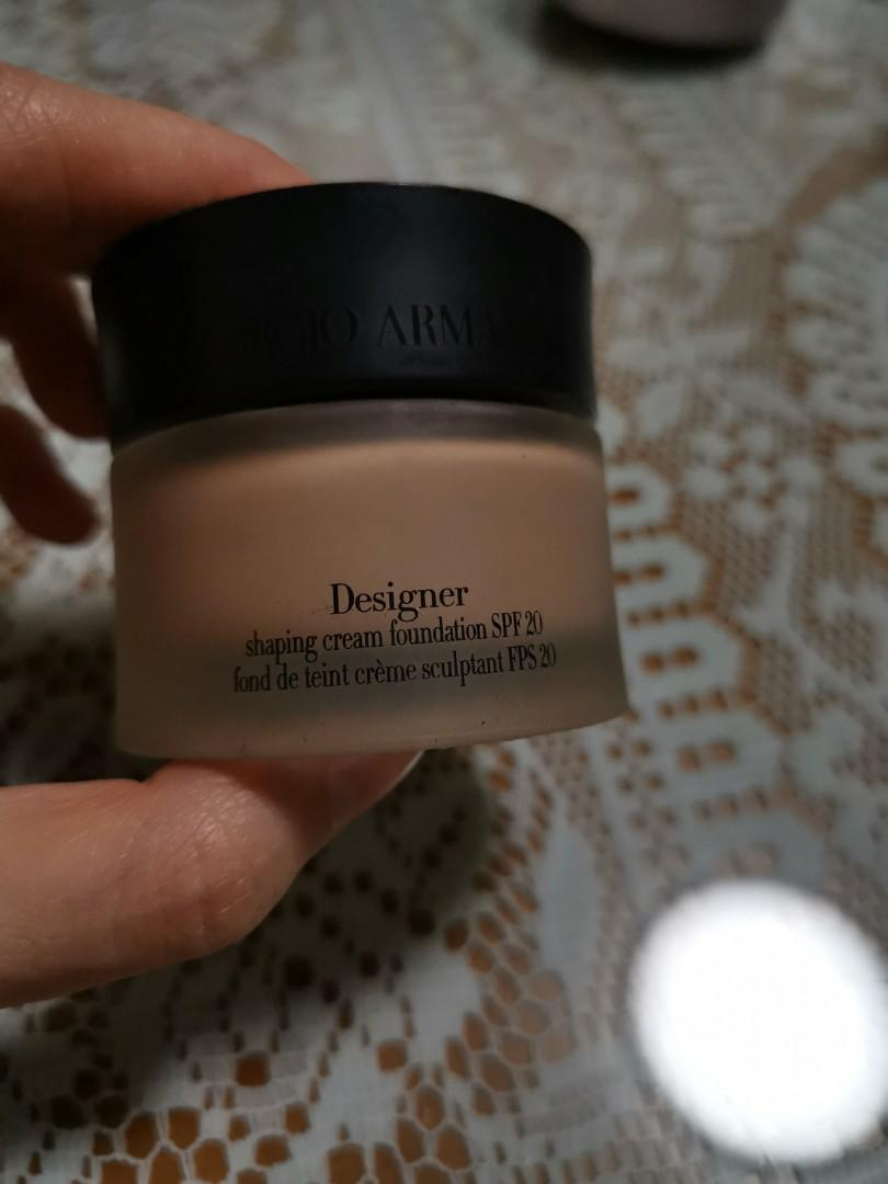 Authentic giorgio armani designer shaping cream foundation spf 20