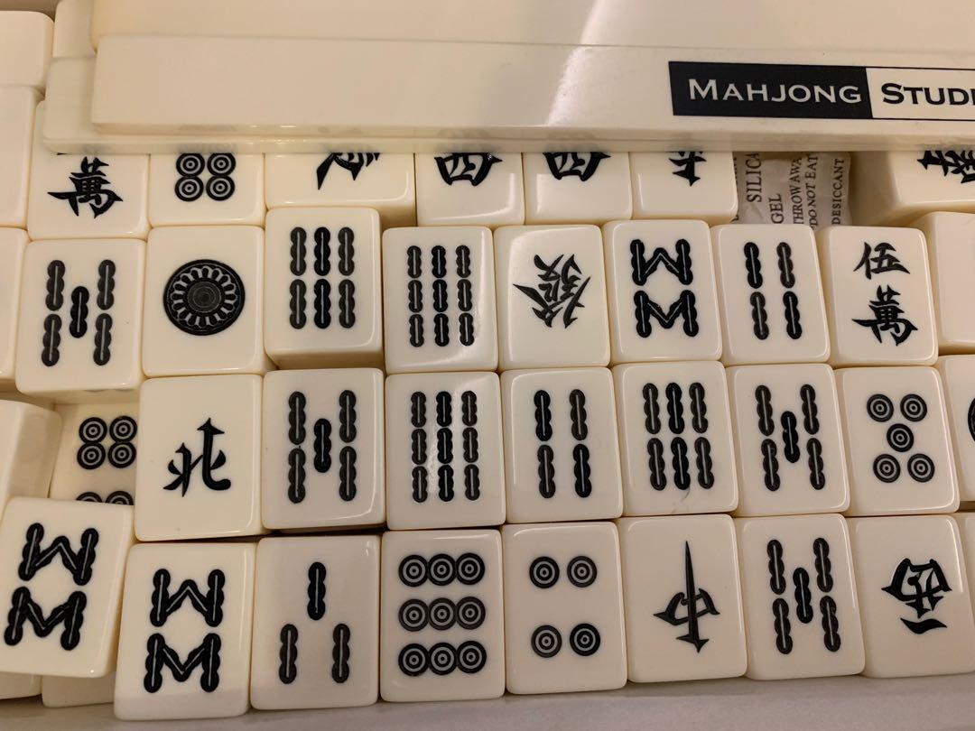 Black & White Mahjong Tiles and Chips