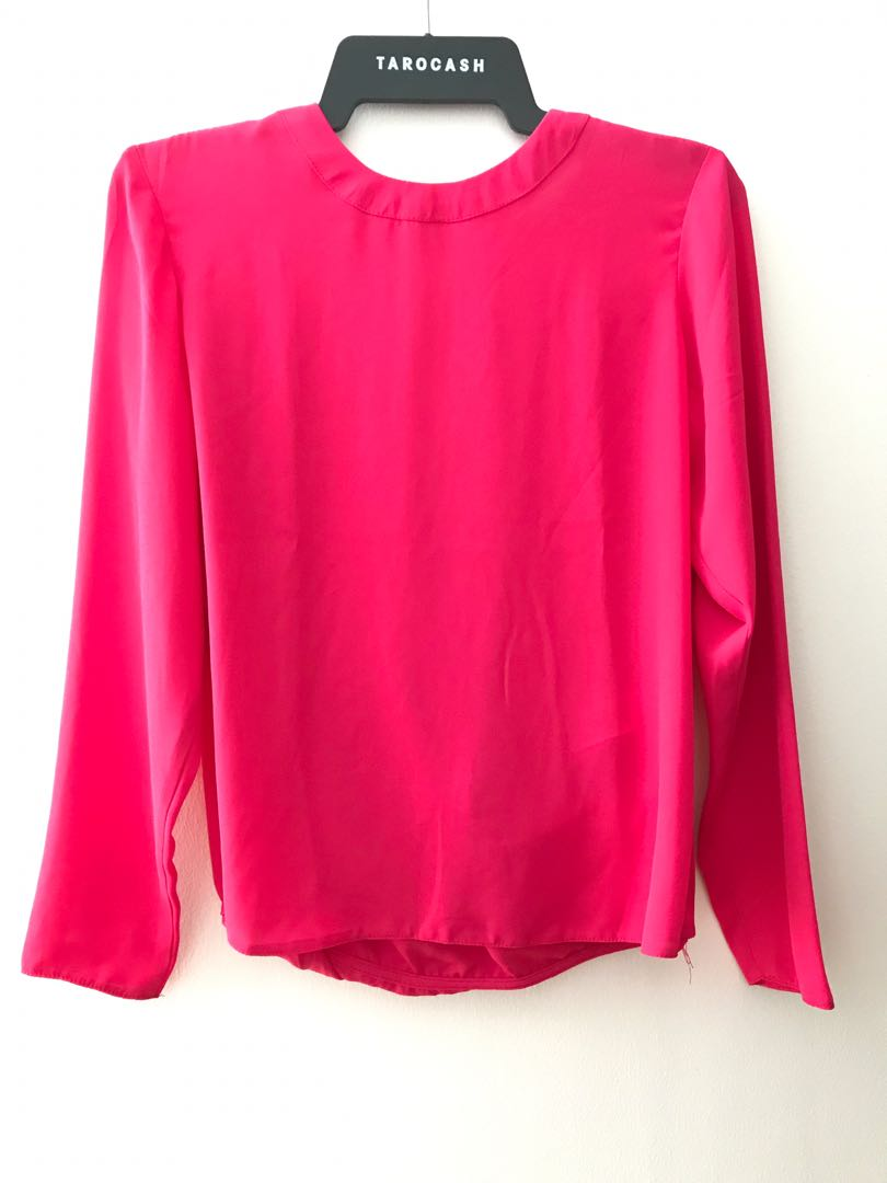 Dorothy Perkins Pink Cotton Jersey Lace Detail Top Size 8 New
