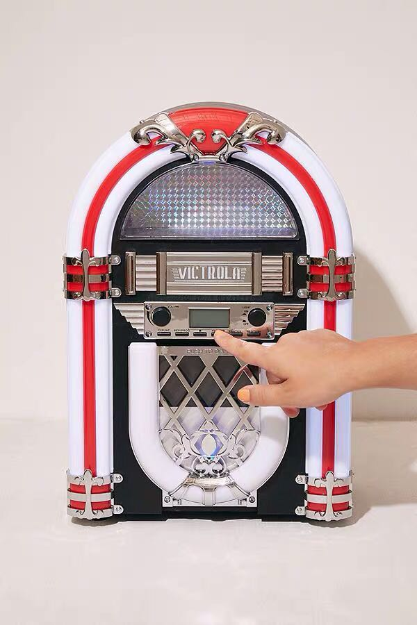 "BRAND NEW LED LIGHT UP DESKTOP ""JUKEBOX""- CD PLAYER & BLUETOOTH SPEAKER"