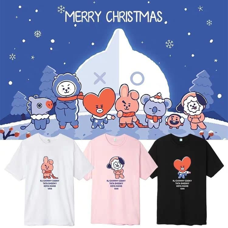 BTS BT21 Christmas 2018 Hoodie Sweater Tee Collection Duplicate