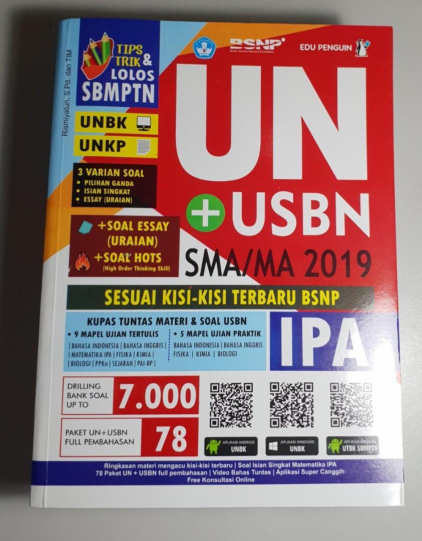 BUKU UN+USBN SMA/MA IPA 2019
