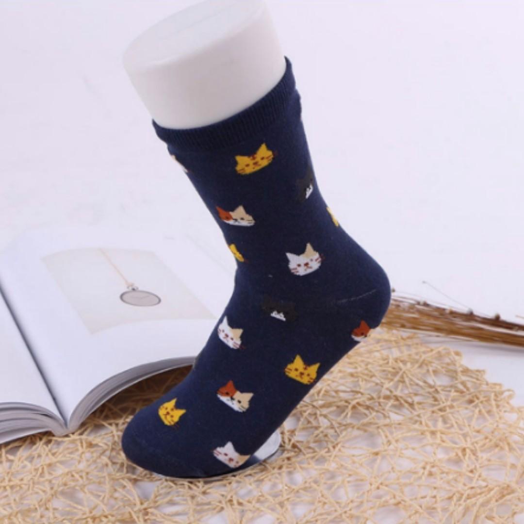 Cat Print Socks (PO)