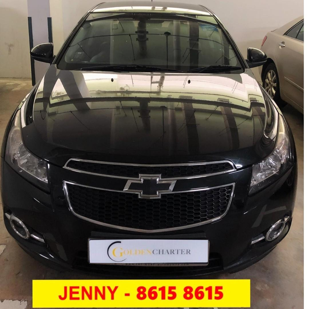 CHEVROLET CRUZE 1.6A BLACK Toyota Vios Wish Altis Car Axio Premio Allion Camry Estima Honda Jazz Fit Stream Civic Cars Hyundai Avante Mazda 3 2 For Rent Lease To Own Grab Rental Gojek Or Personal Use Low price and Cheap