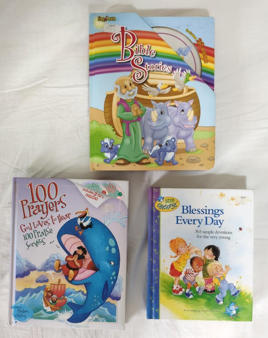 Children Bible Story /Prayers Books & CDs on Carousell