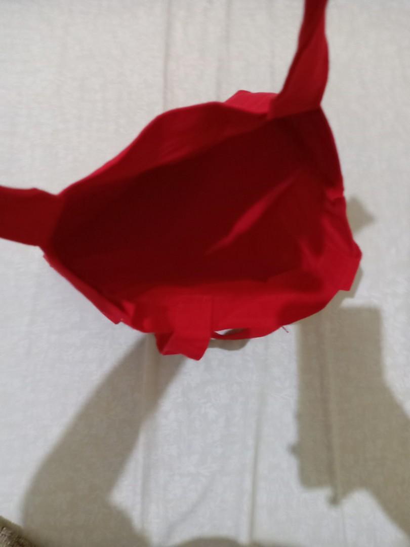 #cintaibumi Tote bag kain Red