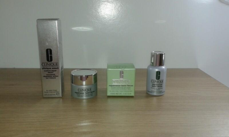 Clinique set (serum, eye cream)