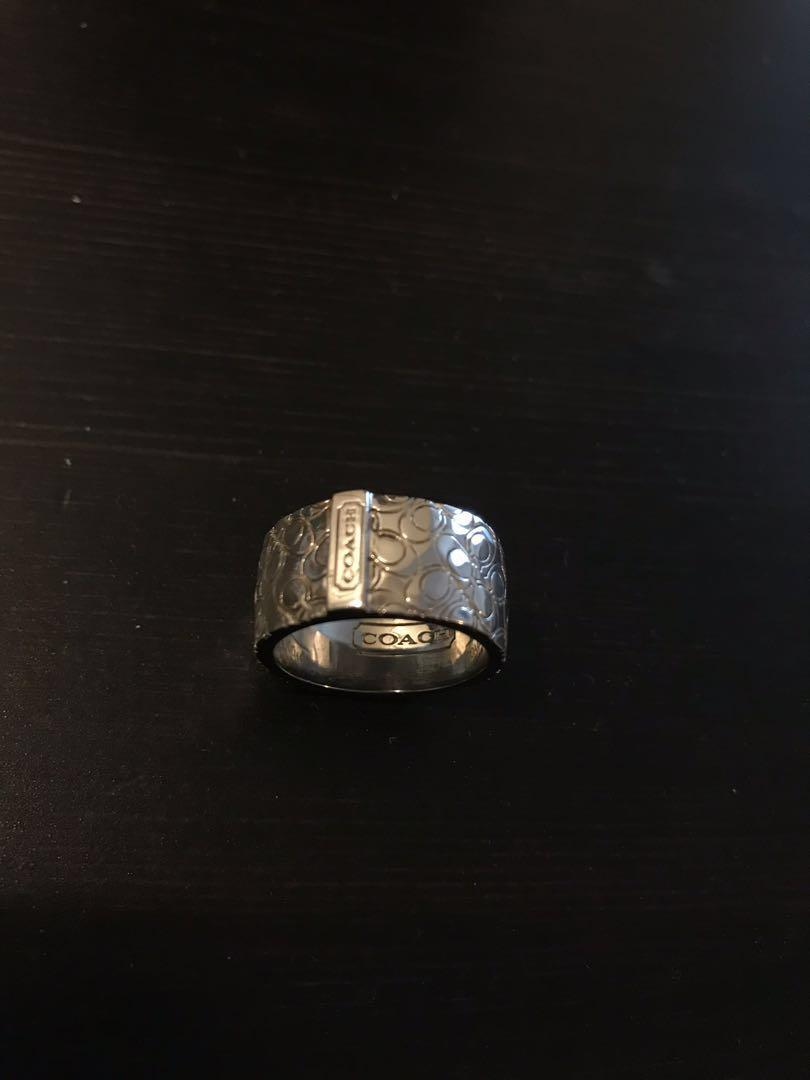 COACH authentic silver ring size 7