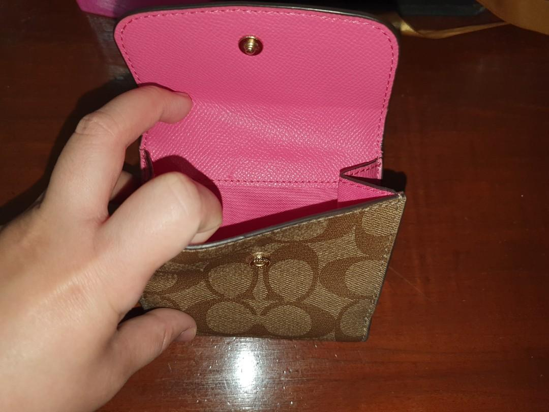 Coach fold small wallet