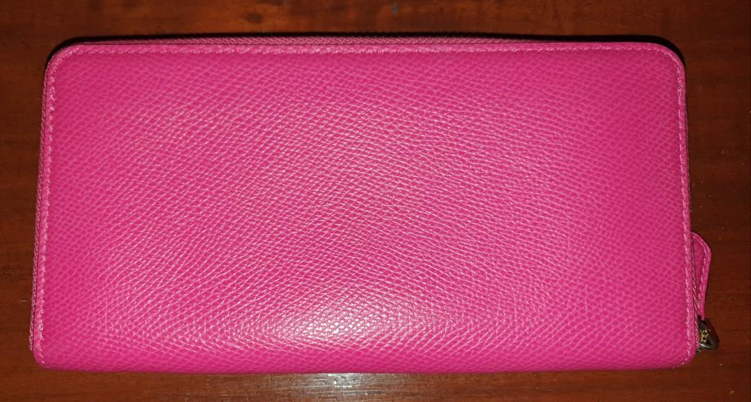 Coach pink zipper wallet Authentic