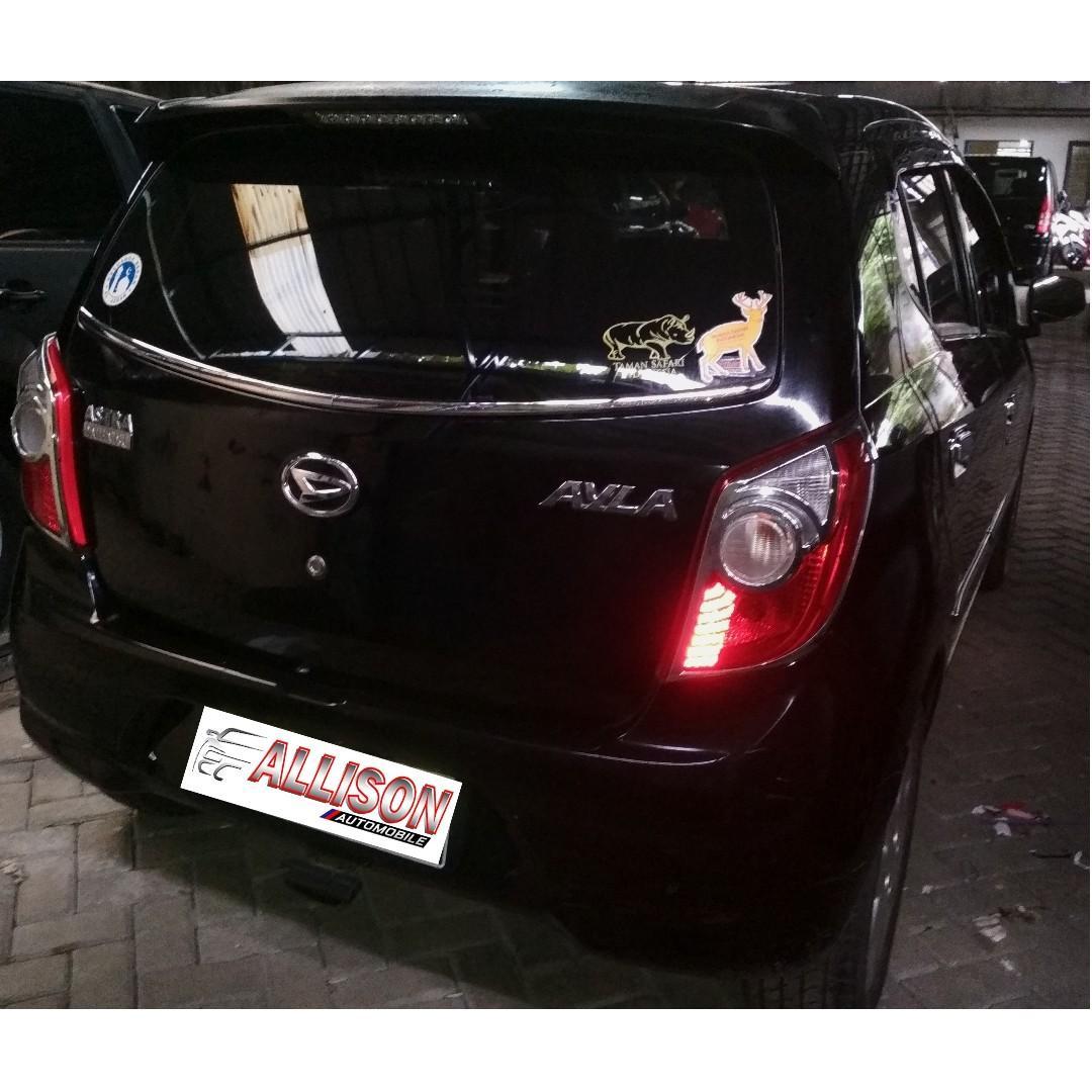 Daihatsu Ayla Tipe M Manual 2014 Hitam DP 9,9 Jt No Pol Ganjil