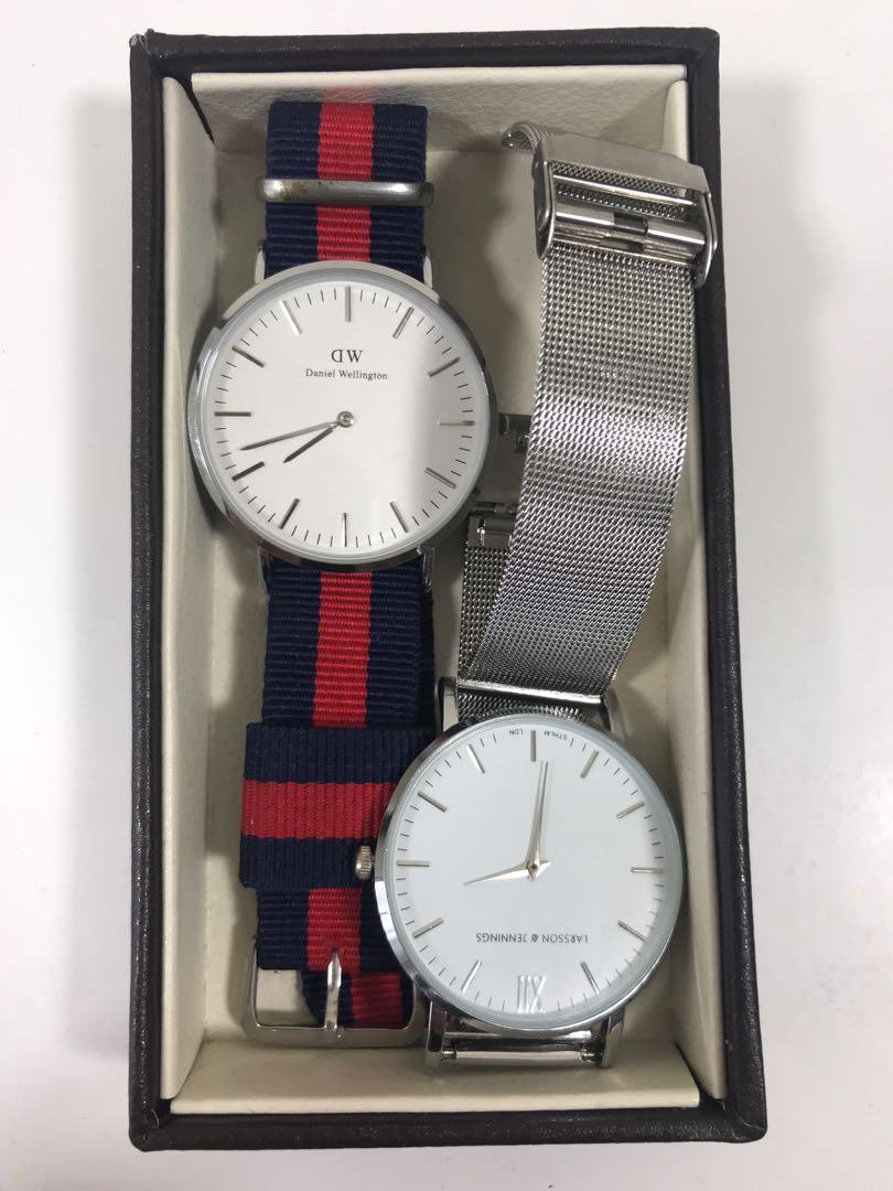Daniel Wellington watch & Larsson Jensson